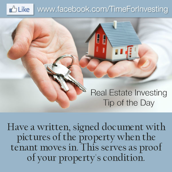 Real Estate Investing Tip of the Day Have a written