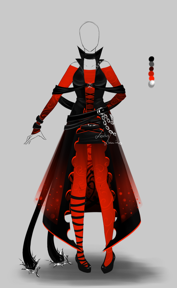 Outfit design 163 closed by LotusLumino on DeviantArt