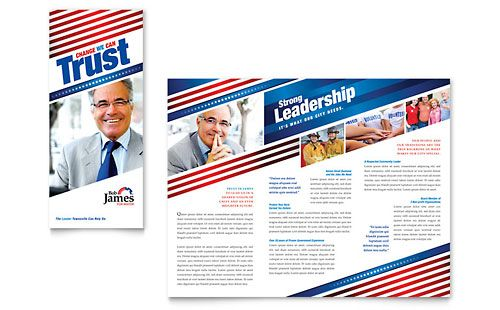 political campaign tri fold brochure template by stocklayouts