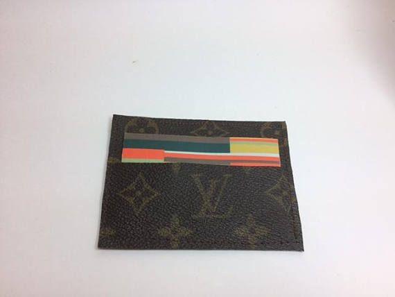 Louis vuitton business card holder mini wallet upcycled lv louis louis vuitton business card holder mini wallet upcycled lv colourmoves