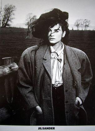 Kristen McMenamy by Peter Lindbergh for Jil Sander Fall 1985 Campaign.