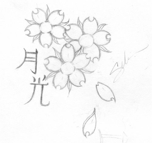 Cherry Blossom Tattoo Design By Linakins On Deviantart Cherry Blossom Tattoo Blossom Tattoo Cherry Blossom Drawing