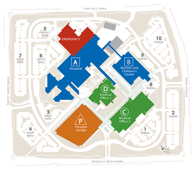 Kaiser Locations California Map.One Of Great Medical Centers In Roseville California Campus Map