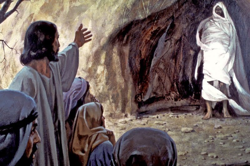 Into The King S Garden Lazarus Came Forth So Did Others Jesus Bible Images Bible Pictures