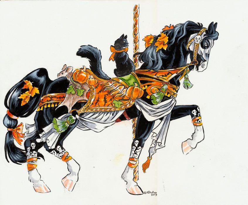 Halloween carousel horse by Hbruton.deviantart.com on @deviantART
