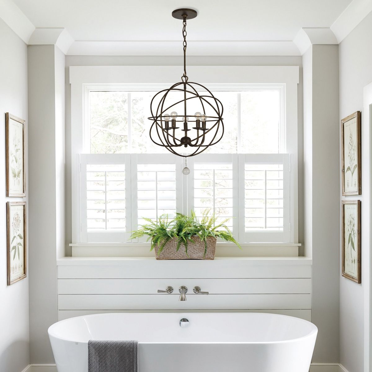 Bathroom Lighting Ideas In 2020 Globe Chandelier Bathroom Chandelier Bathroom Lighting Design