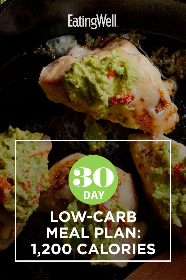 30-Day Low-Carb Meal Plan: 1,200 Calories   Low carb diet ...