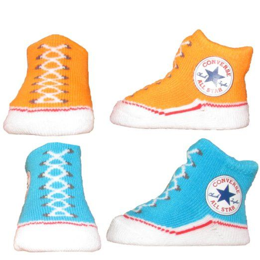 13f1ee4b3ee00 Amazon.com: Converse Unisex 0-6 Months 2-Pair Infant Booties (Blue ...