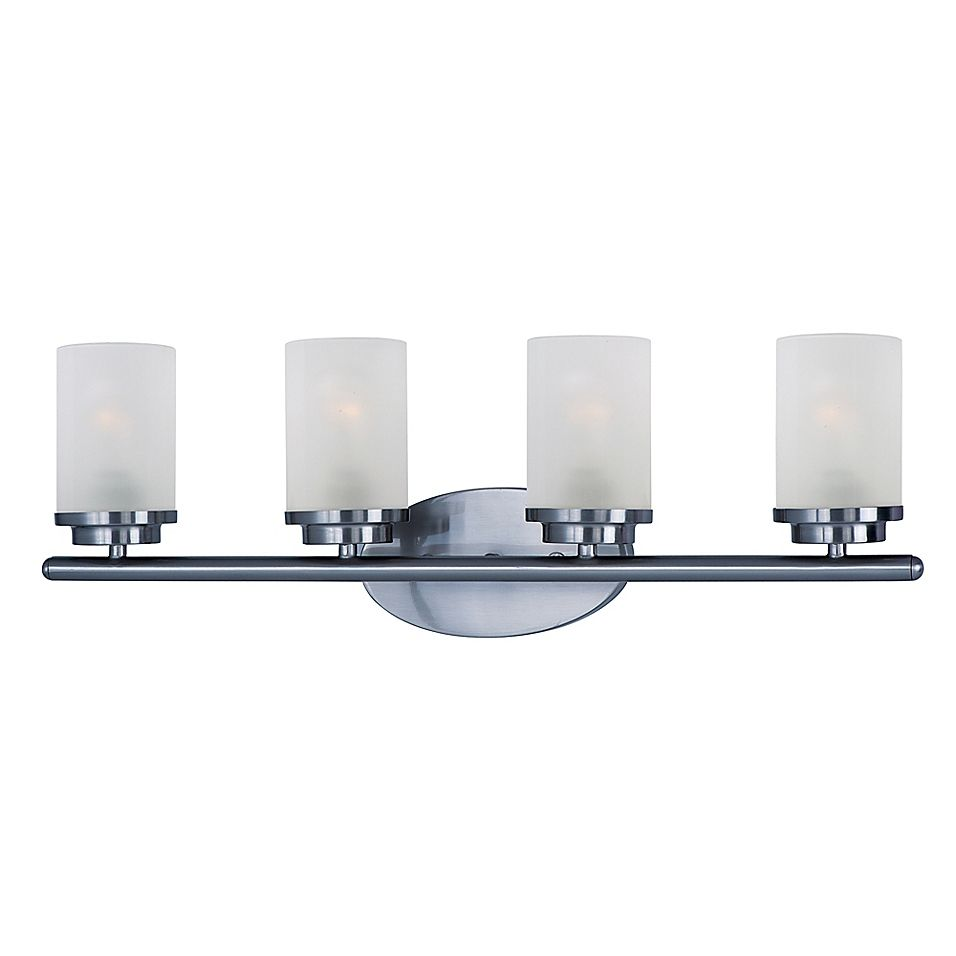 Maxim Lighting Corona 4-Light Wall-Mount Sconce In Polished Chrome - Add contemporary flair to your home with the Maxim Lighting Corona Wall-Mount Sconce. Featuring a clean, crisp design the wall sconce adds an elegant feel to your room. The frost glass shade completes the look.