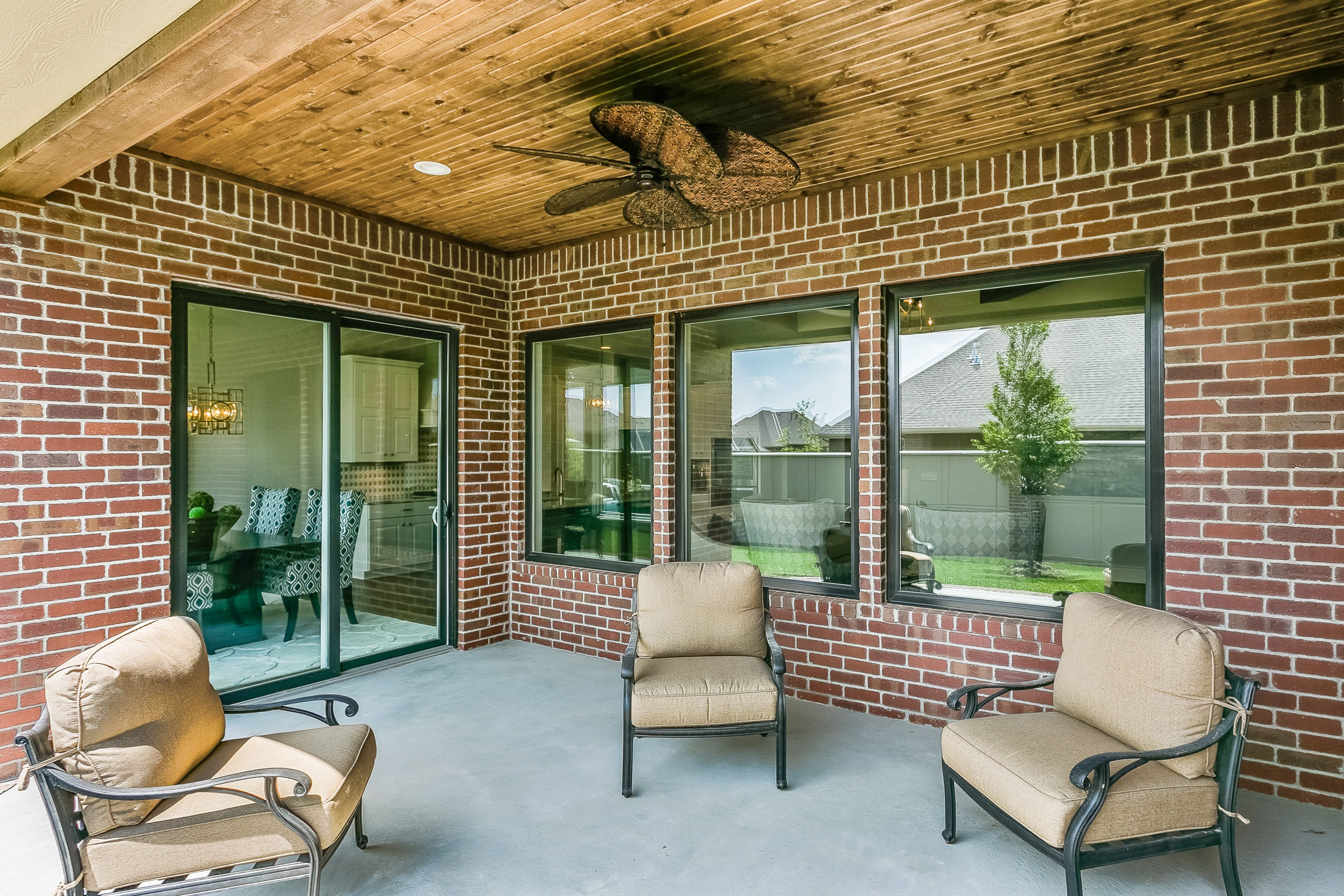 Riverside Plan: Covered Outdoor Living Area with a large ... on Riverside Outdoor Living id=27094