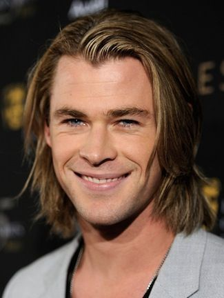 Chris Hemsworth - long brown hairstyle and clean shave - Long Haired Men, Hairstyles, & Guys Growing Hair