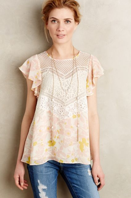 e78ad18fd9f555 Fluttered Flores Blouse - #anthroregistry | Fashion love | Fashion ...