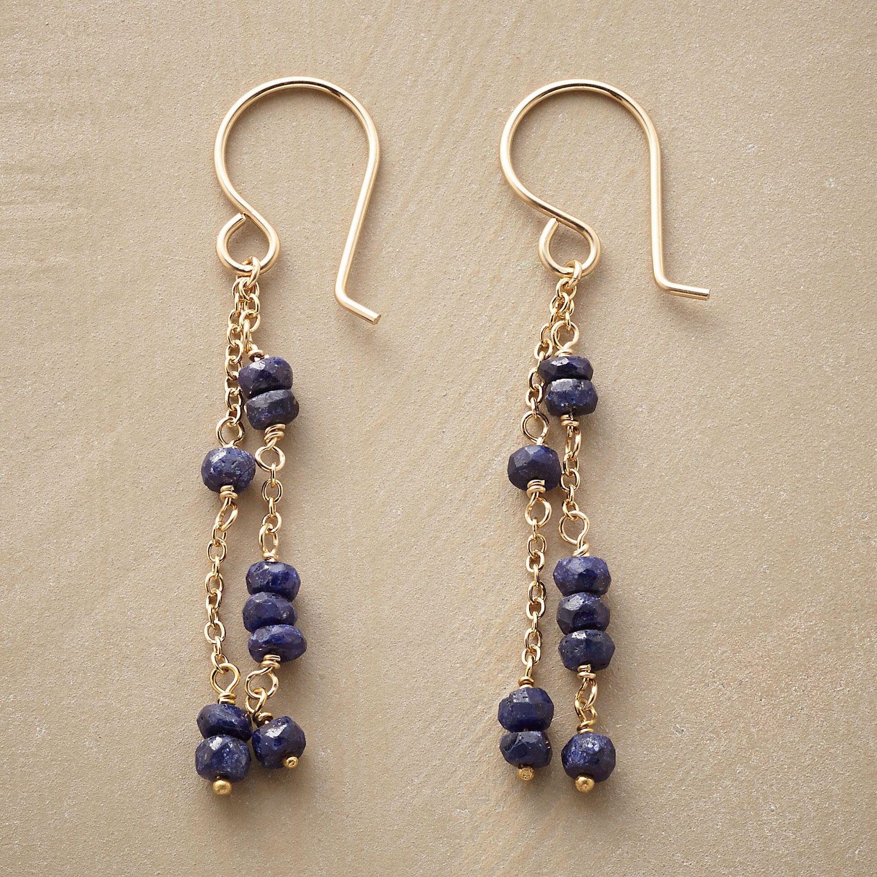 RANDOM SAPPHIRE EARRINGS -- Finding harmony in asymmetry, sapphires ...