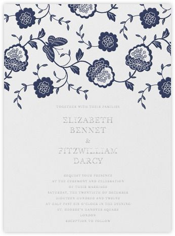 oscar de la renta leaf lace invitation | Paperless Post - Oscar de la Renta invitations