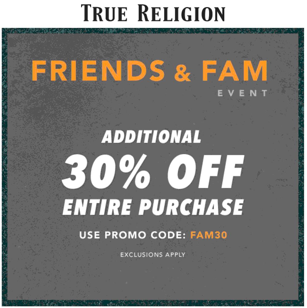 true religion coupons online