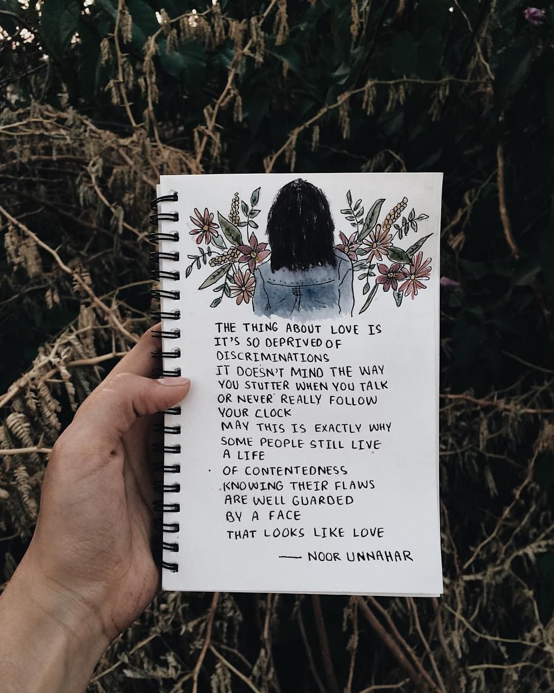 a face that looks like love // poetry by noor unnahar // art journal journaling ideas inspiration, words quotes … | Doodle art journals, Art journal, Sketch book