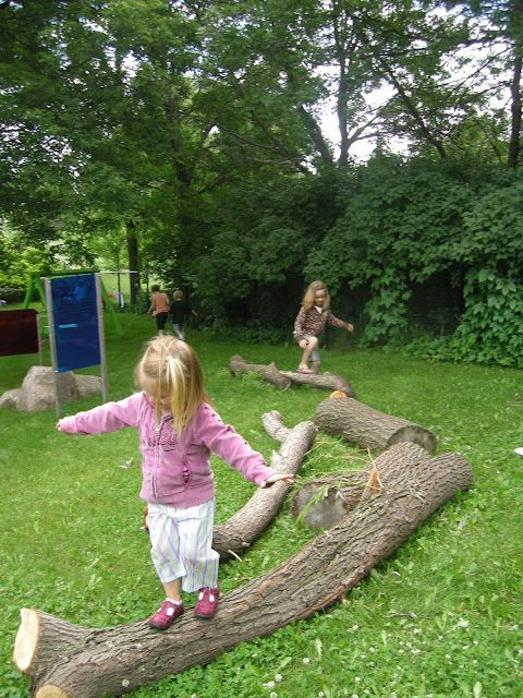 Who needs expensive balance beams? Reggio outdoor playscape ...
