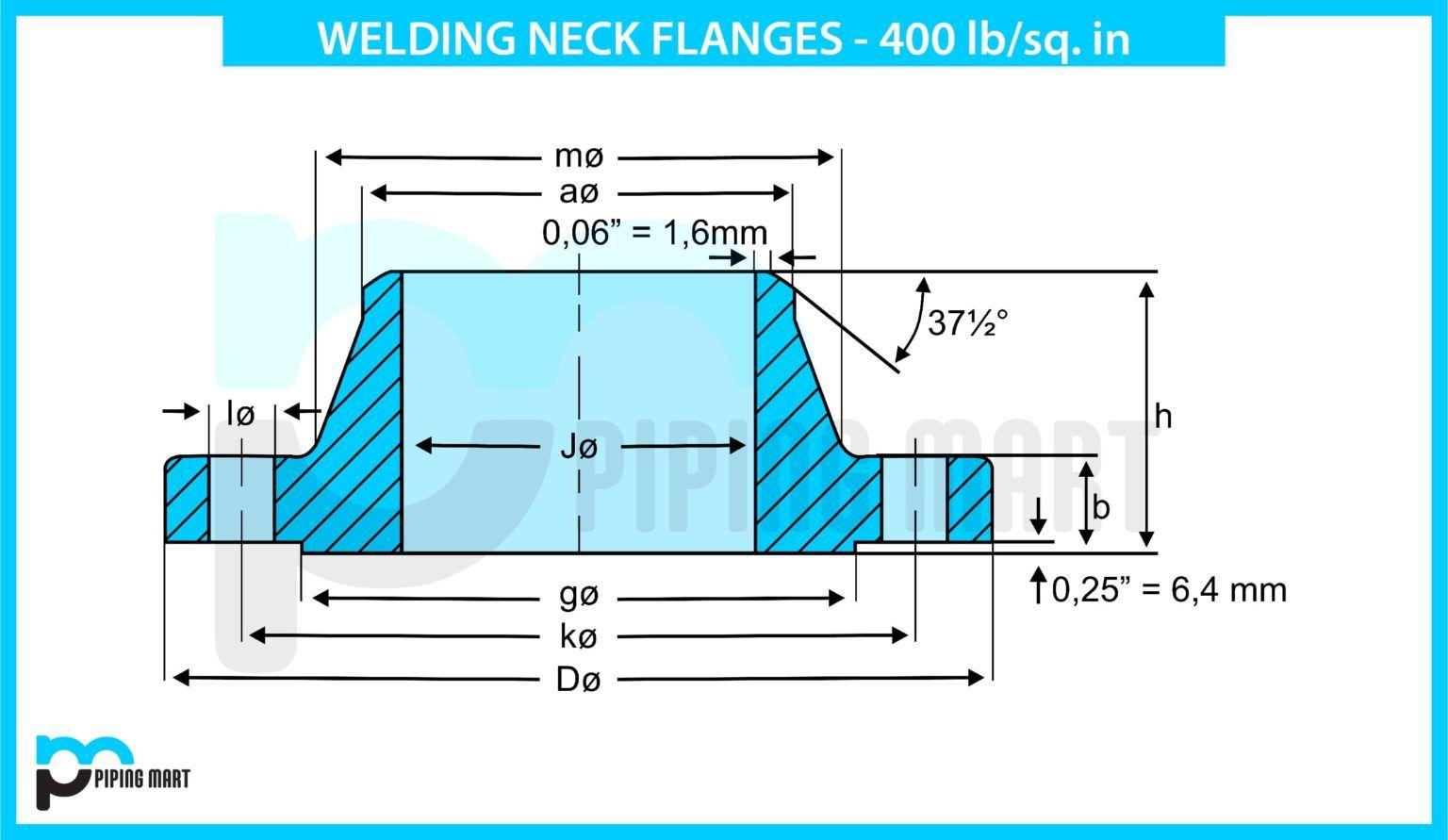 B16 5 Welding Neck Flanges Dimensions 400 Lbs In 2020 Dimensions Welding Floor Plans