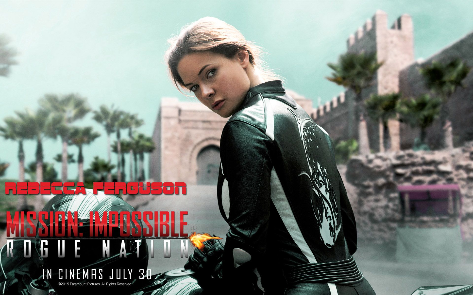 mission impossible rogue nation actress rebecca ferguson wallpapers