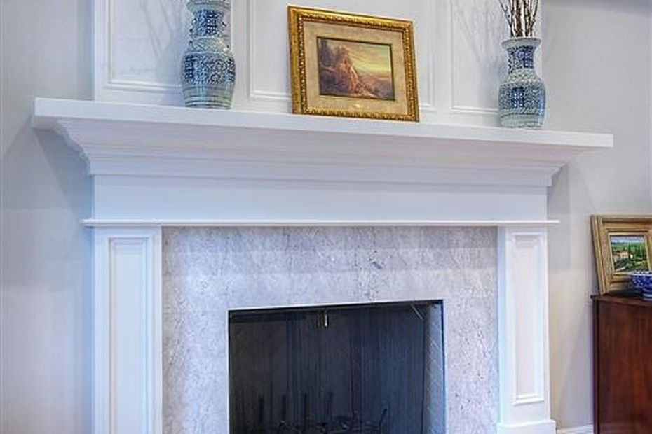 Classic And Timeless Fireplace Design With Simple Elegant Decor