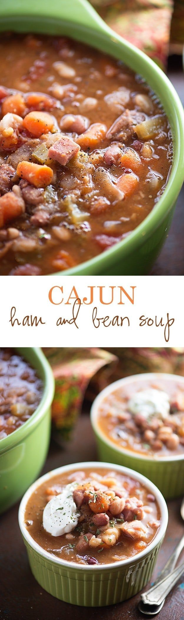 This slow cooker soup recipe is the perfect way to use up that leftover ham!