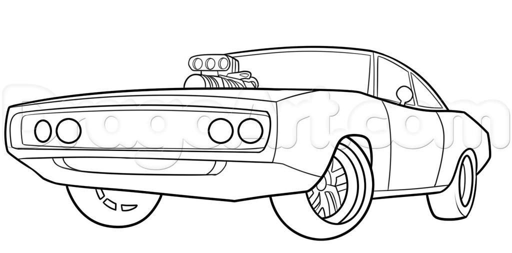 Coloriage De Voiture De Fast And Furious In 2020 Cars Coloring Pages Race Car Coloring Pages Dodge Charger