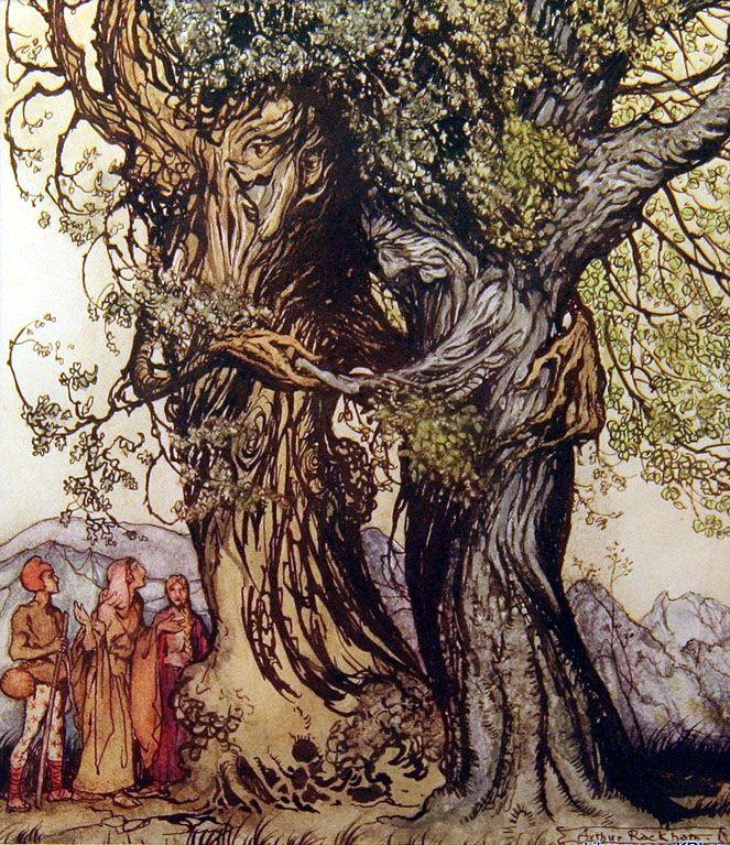 Arthur Rackham Philemon And Baucis Tags Philemon Filemon Baucis Baukis Art Du Conte De Fees Arthur Rackham Illustration Ancienne
