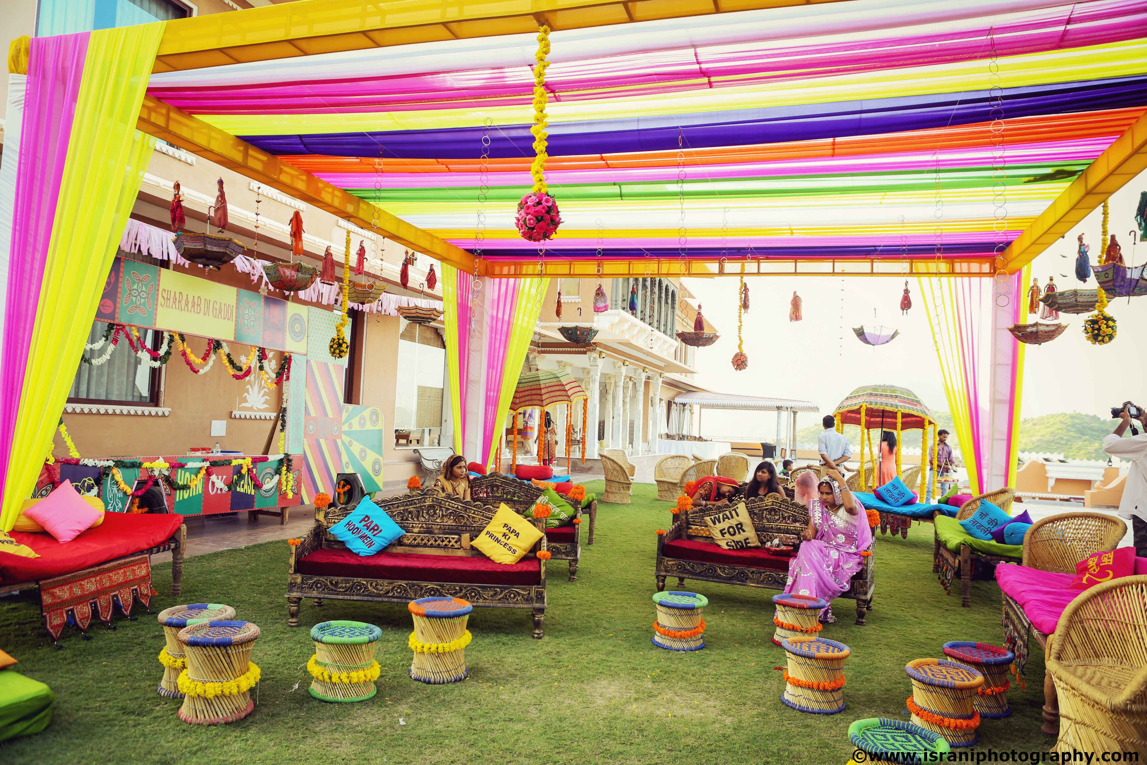 Indian wedding decor by aashna on pinterest indian for Holi decorations at home