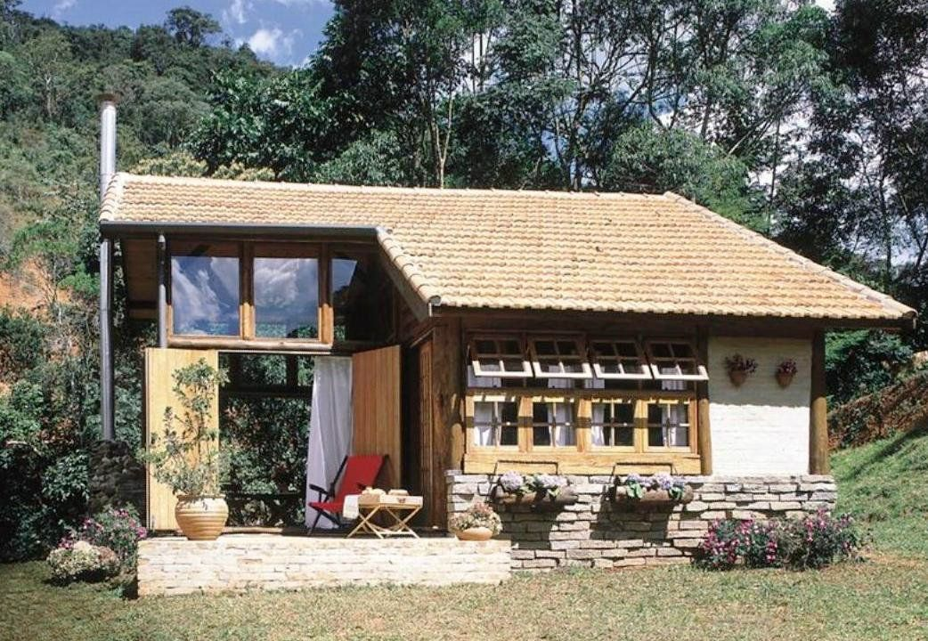 Pequena r stica casas pequenas pinterest casas for Casas rusticas pequenas