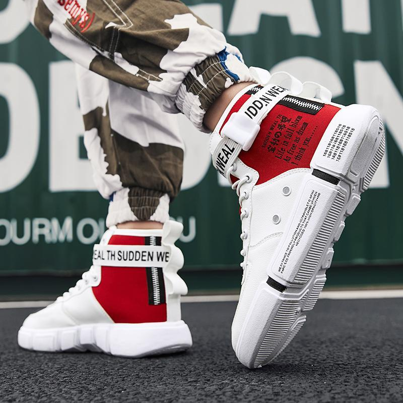 Mens Fashion High Top Sneakers Boards Shoes Sports Walking Jogging Flat Casual B
