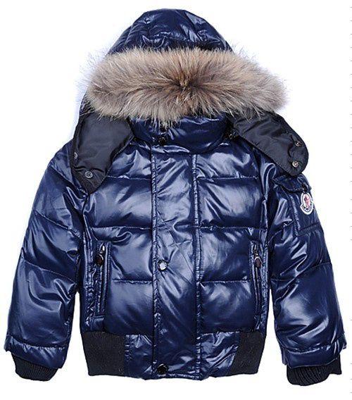 $172Moncler Kids Jacket Boy Dark Blue