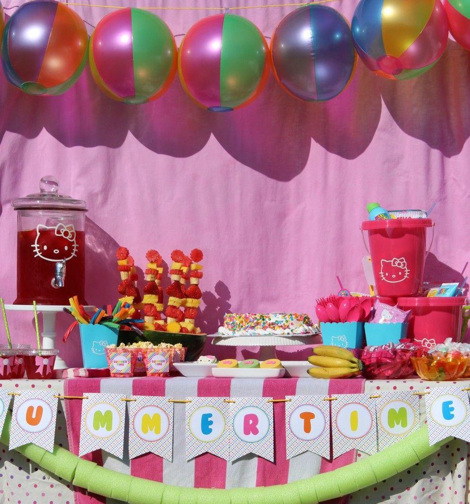 Hello Kitty Pool Party Pool Party Cakes Hello Kitty Birthday