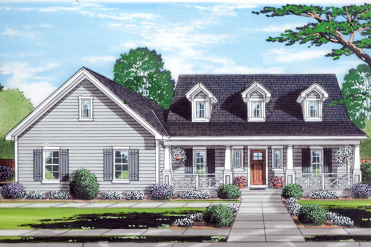 Plan 39278st 3 Bed Country Home Plan With First Floor Master Suite Farmhouse Style House Plans Cape Cod Style House Country House Plans