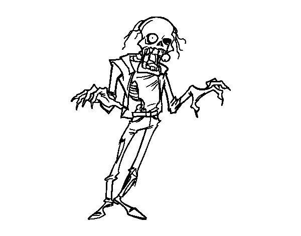 Dibujo de Zombie horripilante para Colorear | Dibujos de Halloween ...