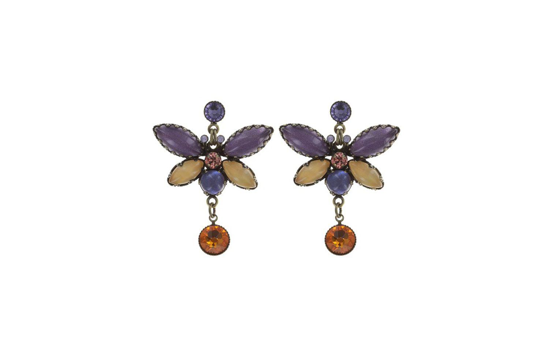 Konplott Ohrstecker Fly Butterfly Gelb, Messing