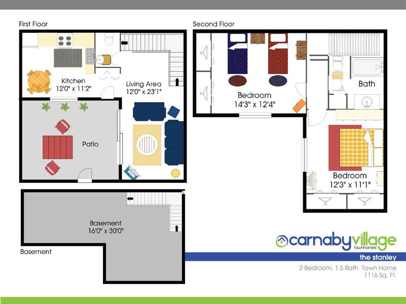 Carnaby Village Townhomes Columbus Ohio Basement For Rent Bath Town Townhouse