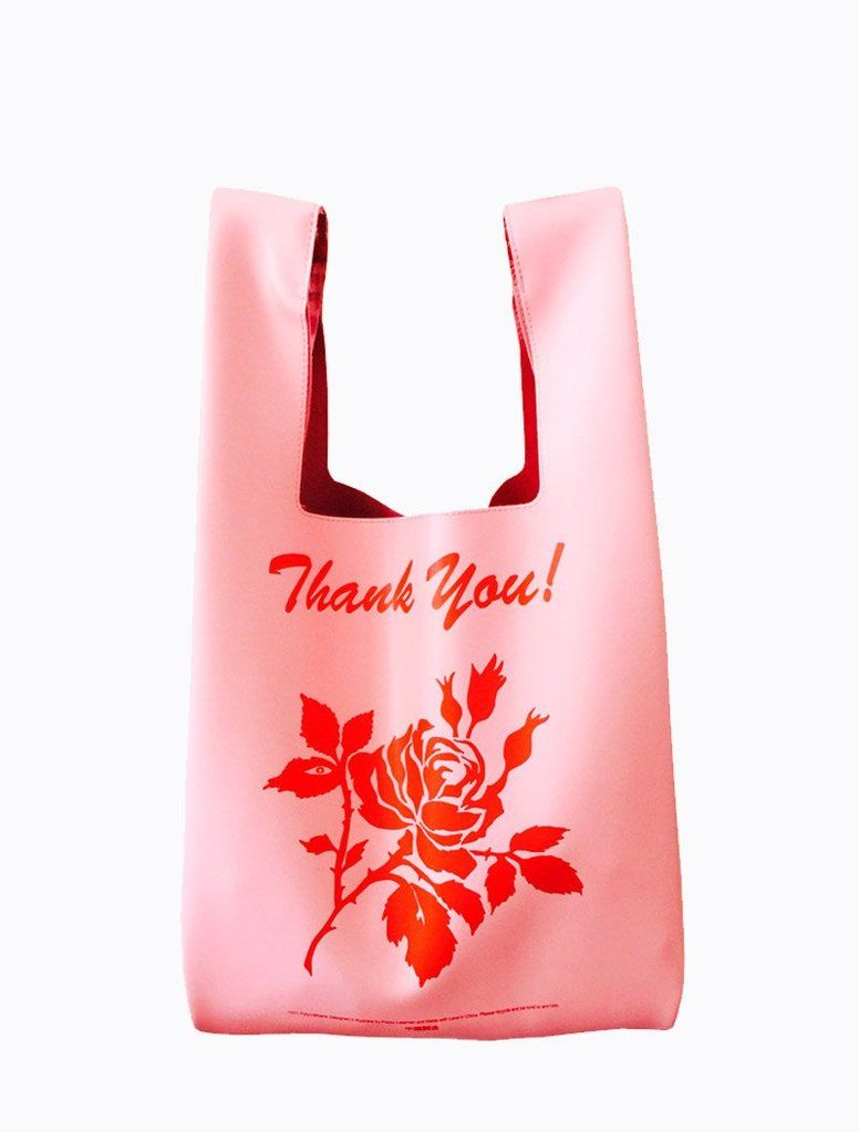 Inspired by the plastic  THANK YOU  bags you often see in China Town and  random knick knack shops this faux leather version is made from the highest  quality ... 529b1af1dd284