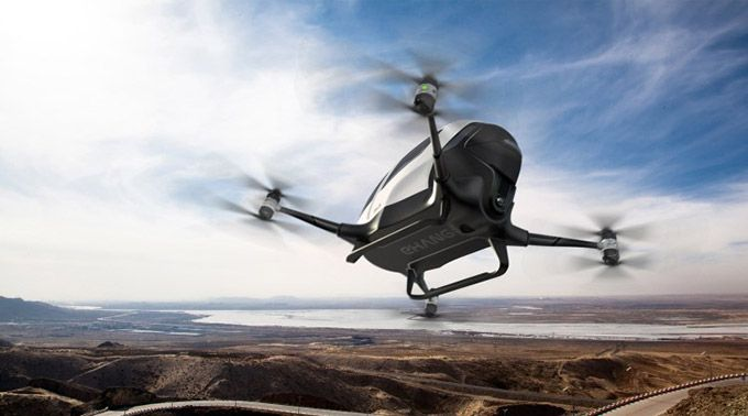 The Ehang 184 an humansized helicopter drone