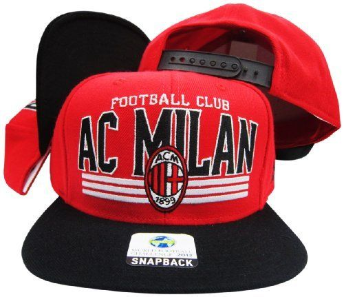 new product ee4a0 3b748 ... czech ac milan red black adjustable soccer snapback cap hat adidas.  25.99 083ad 0f51e