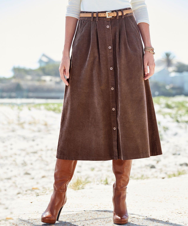 Corduroy Skirt Women Damart With Images Corduroy Skirt Skirts Black Skirt