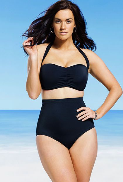 af26d58ec6687 Plus size pin up bathing suits. Swim Sexy Eclipse Retro High Waist Bikini
