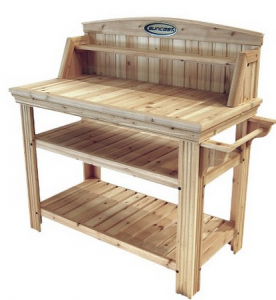 Elegant Suncast Cedar Potting Table $159 Shipped