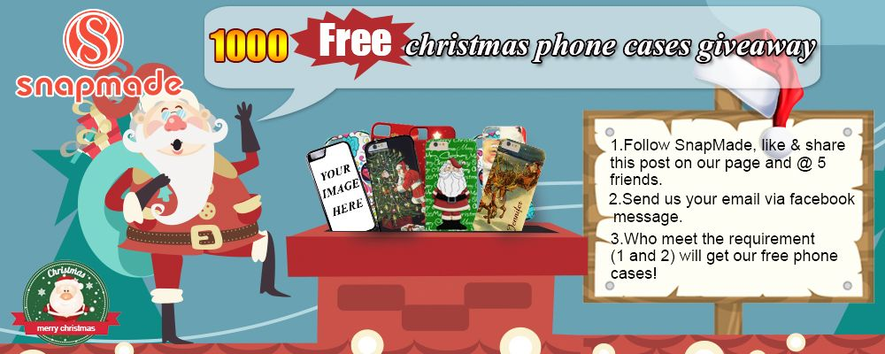#Christmas #Gift Project for you by Snapmade,it has only two steps to own a chance to get our #Free phone cases. Come on and Follow us!