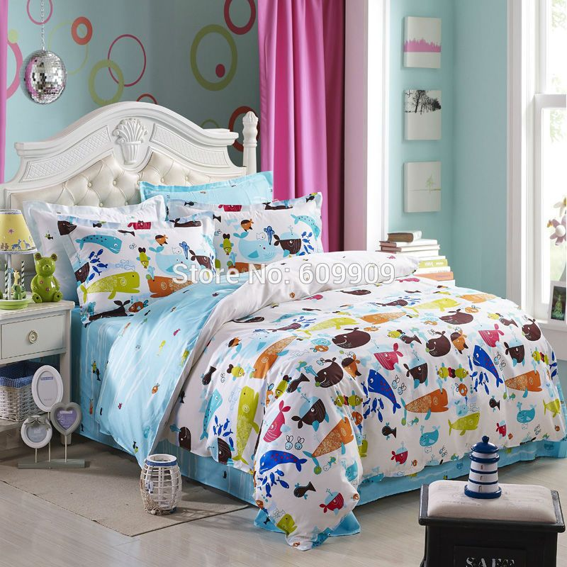 Find More Bedding Sets Information about 5 Pieces Fish Theme Bedding Set  Ocean Theme Bedding Ser. Find More Bedding Sets Information about 5 Pieces Fish Theme