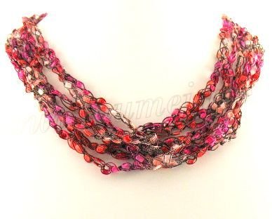 Free Crochet Pattern Ladder Ribbon Necklace Pattern 2 Crochet