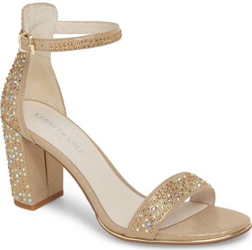 68c512c03322 Kenneth Cole New York 'Lex' Ankle Strap Sandal in Metallic   Metallic Gold  Shoes