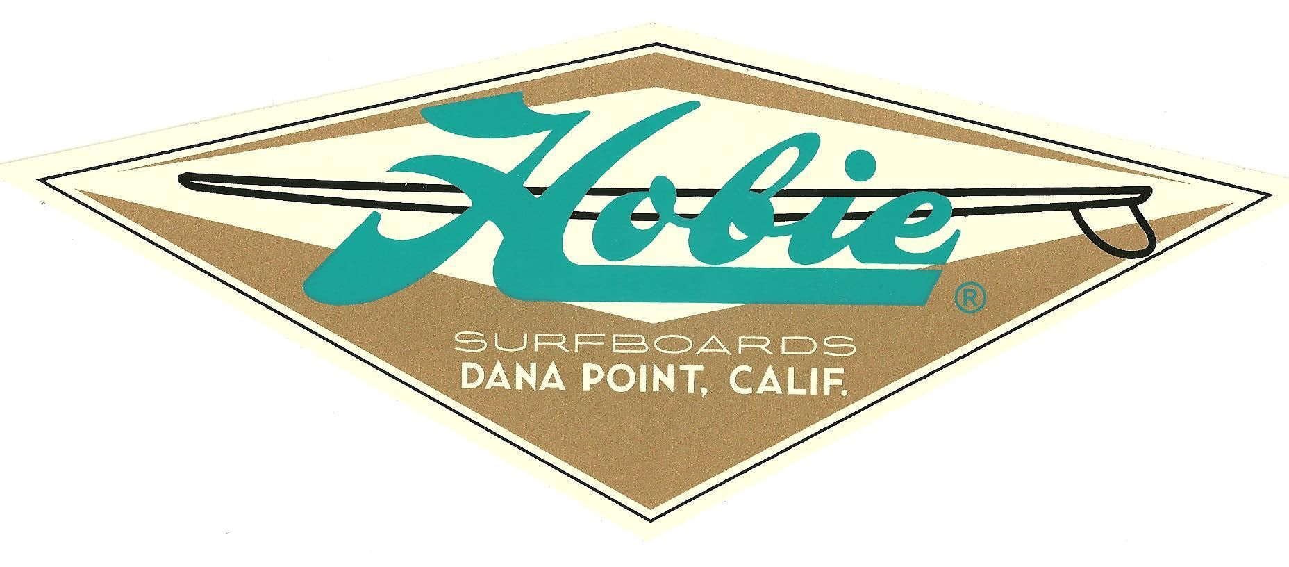 Hobie Surfboard Patch vintage style Iron on longboard Authentic