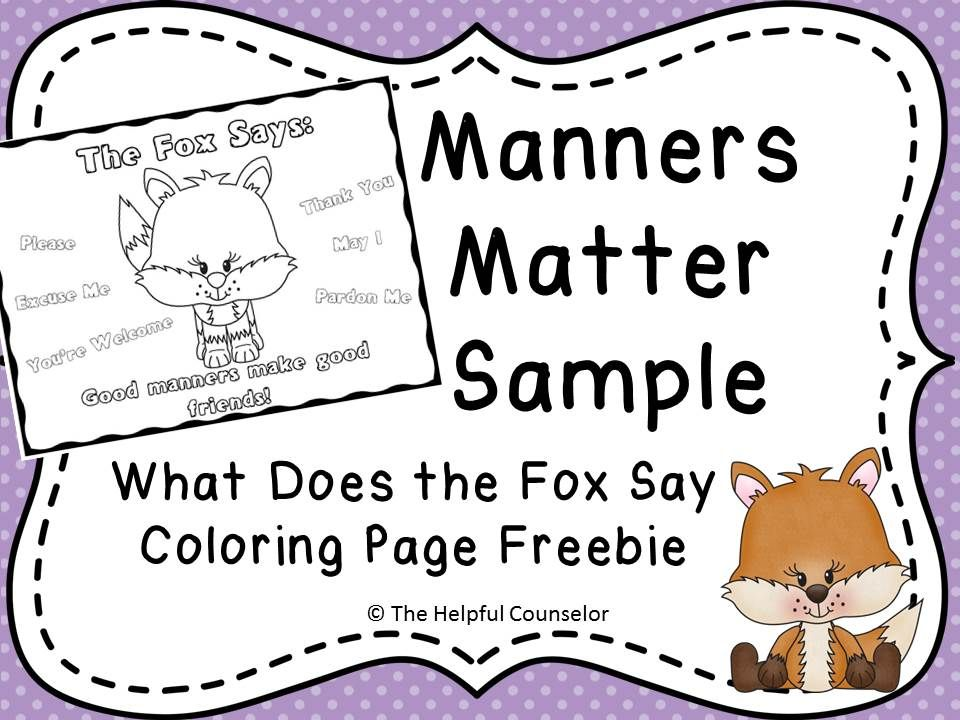 Manners Matter: What Does the Fox Say Coloring Page ...