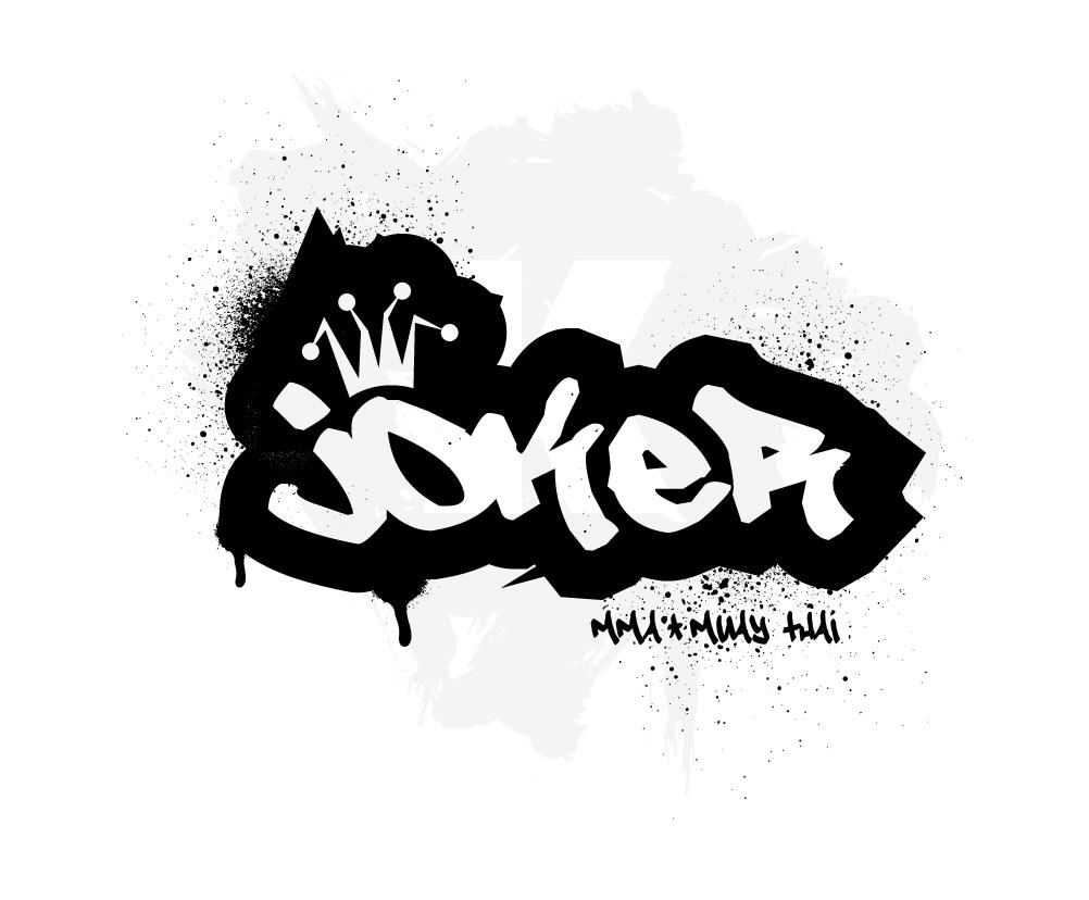 Joel the joker logo 1 joker logo joker and harley quinn tattoo art social media marketing