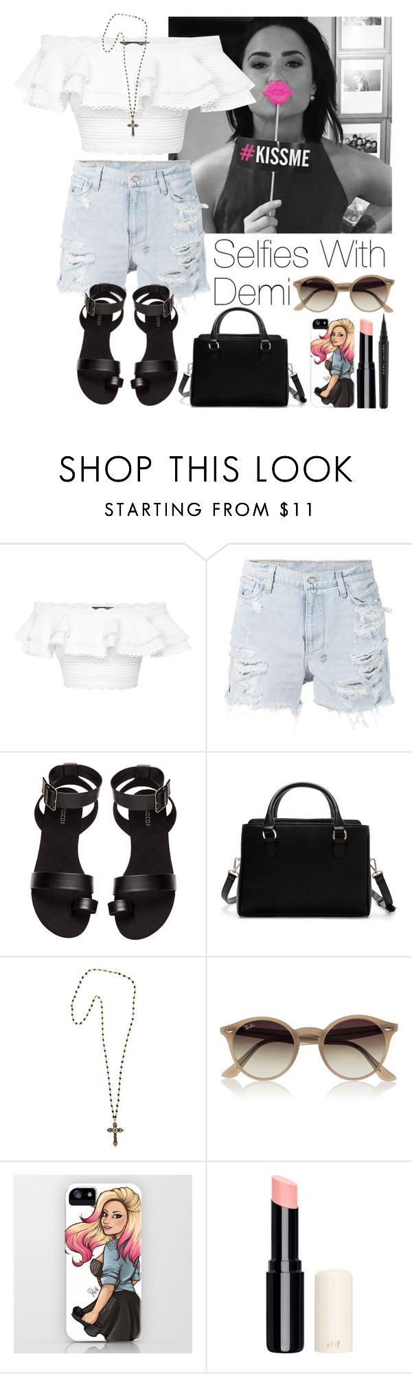 """""""Selfies with Demi"""" by lovatic92 ❤ liked on Polyvore featuring Alexander McQueen, Ksubi, H&M, Zara, Heather Gardner, Ray-Ban, Marc Jacobs, DemiLovato, Lovatic and selfie"""